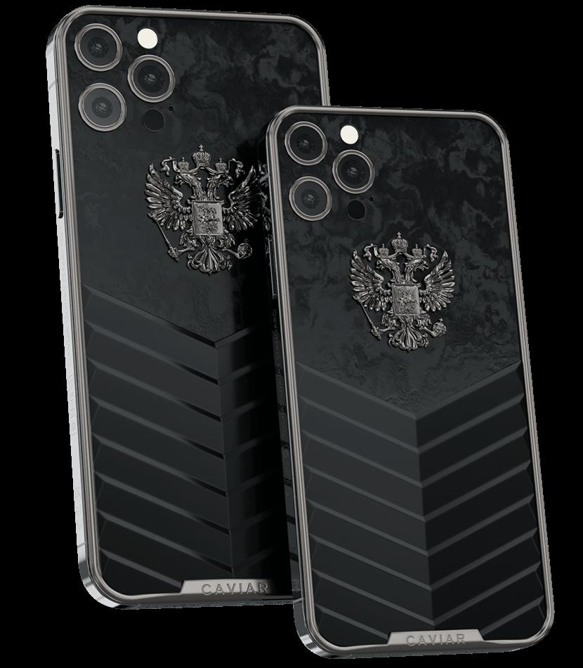 Ко Дню России Caviar выпустила люксовую коллекцию iPhone 12 Pro c двухглавым орлом из золота и титана